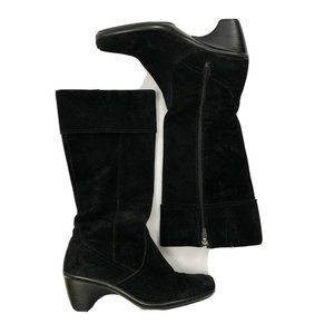 Dansko Risa Black Suede Knee High Full Zip Boots